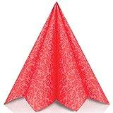 GRUBly tovaglioli di Carta in Rosso - Tovaglioli Carta Resistenti Come tovaglioli Stoffa da tavola - Perfetti per Ogni Cerimonia - Tovaglioli Colorati 40 x 40 - qualità Airlaid - Pacco da 50
