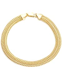 Carissima Gold 9ct Yellow Gold Curved Curb Bracelet of 19cm/7.5""