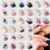 #9: PERFECT SHOPO French False Nails Sex Products Acrylic Nail Tips French Etagere 12 size Faux Ongles Fake Nails Free Glue