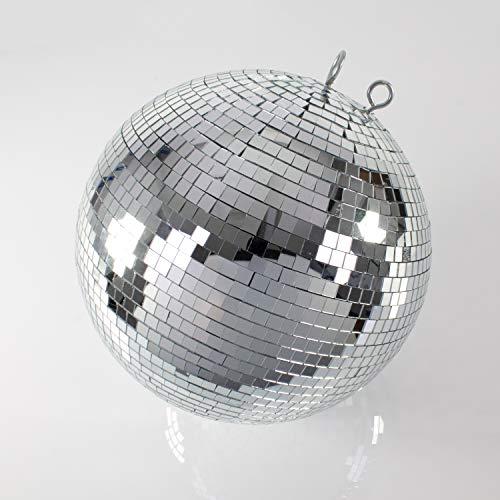 Bola de discoteca GLIX con espejos, Ø 40 cm, plateada - Esfera giratoria / Decoración fiestas - showking
