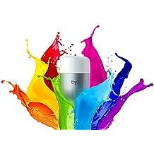 Ollivan Xiaomi Bombilla LED Control Remoto Inteligent Bombilla WIFI Brillo Ajustable Bulbo LED E27 Blanco (Multicolor)
