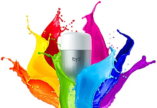 Ollivan Xiaomi™ Bombilla LED Control Remoto Inteligent Bombilla WIFI(internet) Brillo Ajustable Bulbo LED E27 Blanco (Multicolor) width=