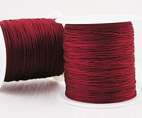 20m 65ft 22yrd Rot Kaffee-Nylon-Schnur Macrame Thread-Perlen-String Geflochtenes Seil Kumihimo Knot, Armband Shamballa Schnur 0,4 mm 0,016