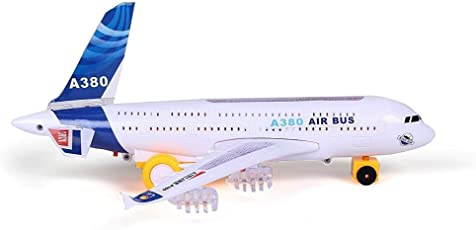 Oviwa Aeroplane Automatic Moving sistem More Instersting with LED Light for Kids ( Airbus A380 Big Size ).