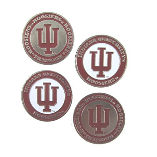 indiana-hoosiers-double-sided-iu-golf-ball-marker-set-of-4-by-waggle-pro-shop