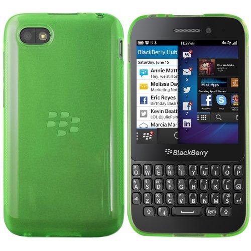 moodie Silikonhülle für Blackberry Q5 Hülle in Transparent-grün - Case Schutzhülle Tasche für Blackberry Q5