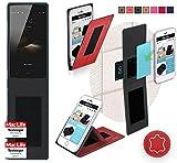 reboon Hülle für HomTom HT7 Pro Tasche Cover Case Bumper | Rot Leder | Testsieger