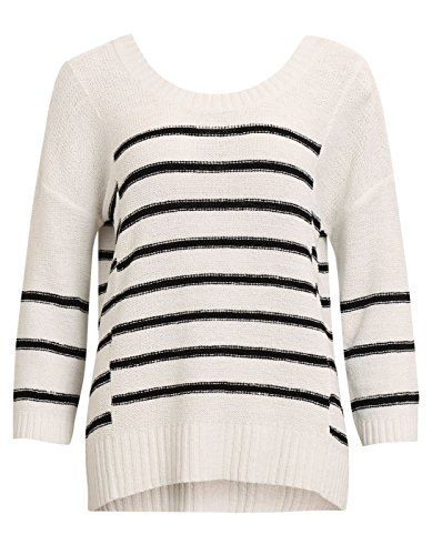 Striped navy sweater by Vila Clothes white