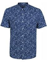 religion Men's Morning Slim Fit Classic Short Sleeve Casual Shirt