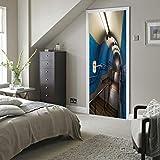 ZHLLNB817 Treppen Unterirdischen Bild Wandmalereien Wandaufkleber Tür Aufkleber Tapete Abziehbilder Dekoration 77X200 cm