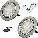 2 Stück | LED Möbelstrahler Leonie | 12Volt | 3Watt | Kabel mit Mini Stecker | Mini Verteiler | LED Trafo | 230V Zuleitung