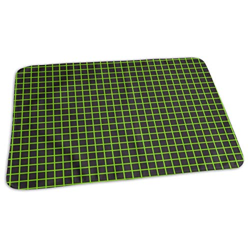ook Grid Neon Green Baby Portable Reusable Changing Pad Mat 19.7x 27.5 inch ()