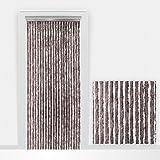 Flauschvorhang Türvorhang Insektenschutzvorhang 90x210cm taupe 5515063 - Made in Italy