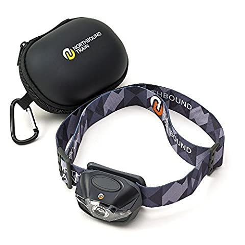 LED Scheinwerfer Kopf Taschenlampe Taschenlampe + Bonus Fall. Cool Geschenk für Running, Camping, Wandern. Lebenslange Garantie. white-red-strobe Lichter mit Dimmer–nur Linen–wasserdicht IPX4. 3Energizer AAAS mit