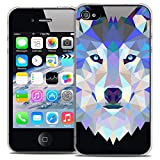 Caseink - Coque Housse Etui pour Apple iPhone 4/4S [Crystal HD Polygon Series Animal...