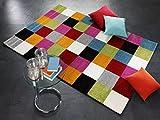 ARTWORK SQUARE moderner Designer Teppich bunt in multicolor, Größe: 140x200 cm