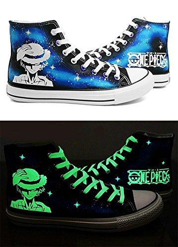 Iwabuchi Cosplay Schuhe Leinwand Schuhe Sneakers Luminous 3Choices, Herren, Blau (B) (Herr D Kostüm)