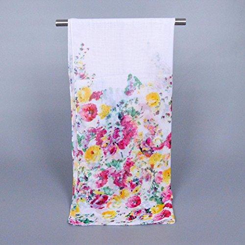 Transer ® Femelle Écharpes, Mode féminine long souple Wrap écharpe Ladies Châle Foulards / Echarpe en mousseline de soie avec Unique Imprimé / Dressystar écharpe élégante Blanc