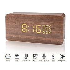 Der LED-Wecker verwendet Holzmaterialien, um Ihren Alltag zu bereichern. Der digitale Wecker bietet eine Sprachsteuerungsfunktion, um Ihr Leben angenehmer zu gestaltenSie müssen die Uhr nicht berühren, um die Uhrzeit zu überprüfen. Wenn Sie ungefähr ...