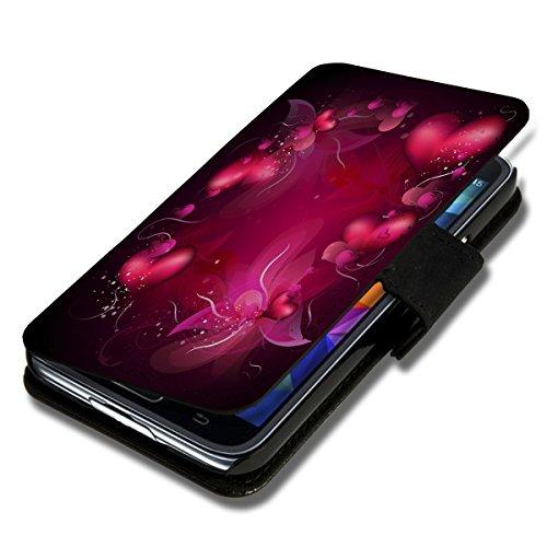 Book Style Flip Handy Tasche Case Schutz Hülle Schale Motiv Etui für Apple iPhone 6 - 4,7 Zoll - A40 Design9 Design 3