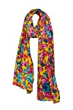 #6: Yellow Floral Printed Cotton Fashion Long Soft Scarf Stole For Women's/Girl's By Handicraft-Palace