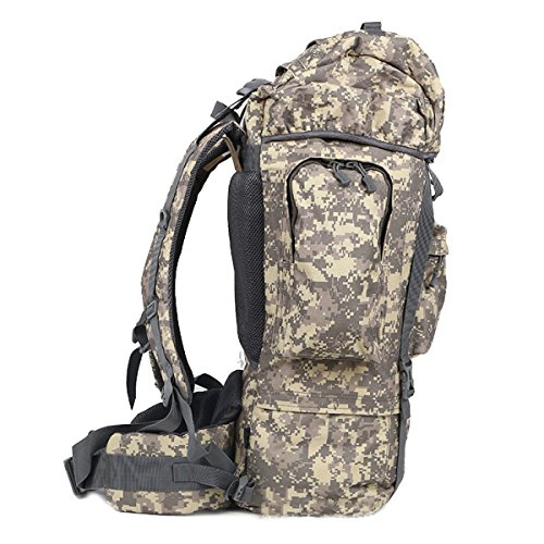 Wasserdichte Multifunktionale Outdoor-Bergsteigen Paket Taktischen Rucksack Camping Camping,Black ACUCamouflage