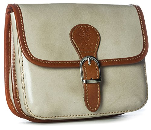 Big Handbag Shop, Borsa a tracolla donna One Beige (Beige-Tan Trim)