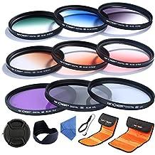 Objektiv Filter 62mm K&F Concept® UV CPL FLD Filter Set,Objektiv Filterset 62mm,Verlaufsfilter Schutzfilter Set für Nikon Canon