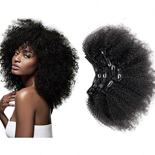 Zml capelli afro kinkys curly remy hair clip in hair extensions 4c 4b africano 120g/set per donne nero nero naturale dei capelli con clip