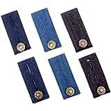 Tissu denim rallonge ceinture de 6 pièces pour jeans, pantalon et jupe