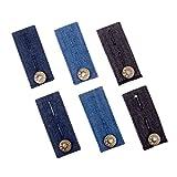6 Stück Denim Hosen Bunderweiterung für Jeans