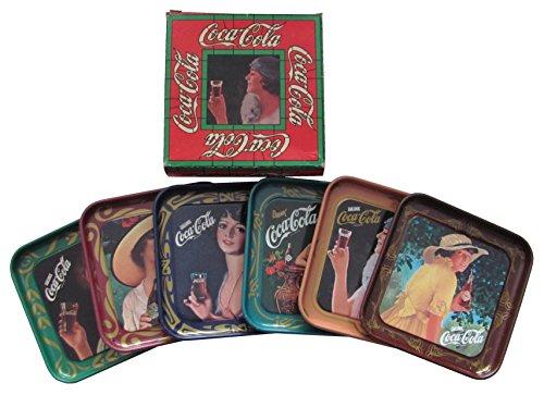Coca Cola - 6 Jugendstil Untersetzer 10 x 10 cm