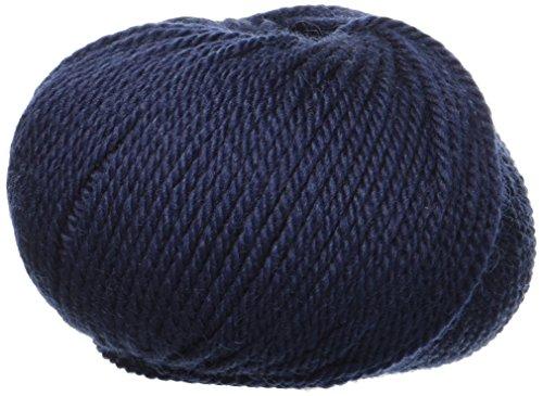 Lane Mondial BIO Wolle, Col. 417-Navy Blau, ökologischen Wolle, Strickgarn, Häkelnadel,50 g (pack of 20)
