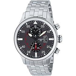 TORGOEN Swiss Herren-Armbanduhr Chronograph Quarz Edelstahl T33202
