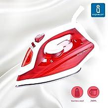 Aigostar Steel Red 31HGD - Plancha de vapor de 1600w, depósito de 260ml en color rojo, tamaño práctico y suela de acero inoxidable. Diseño exclusivo.