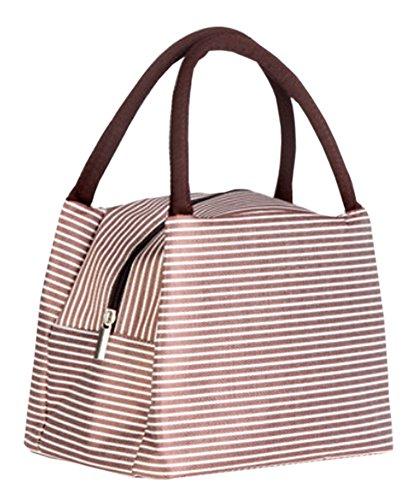 Lovely Bag Lunch-Einkaufstasche Mode Einfache Isolierte Bento - Braun Mittagessen Tasche
