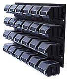 26 tlg. Wandregal Lagerregal Stapelboxen mit Deckel Lagersystem Regalsystem Sichtlagerboxen