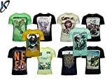 #8: Krystle Pack of 10 Assorted Prints Casual Multicoloured Round Neck T-Shirt