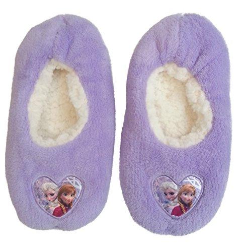 Disney Frozen Hausschuhe Slipper Sneaker Mädchen Kindergarten Schuhe Gr. 25-32 (27/28, Lila) (Elsa-hausschuhe Für Mädchen)