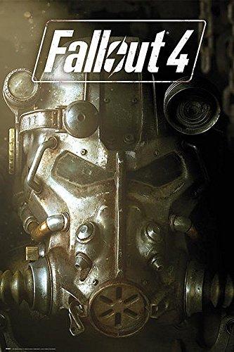 Fallout 4 Poster Maske (61cm x 91,5cm) + 2 St. Schwarze Posterleisten mit Aufhängung