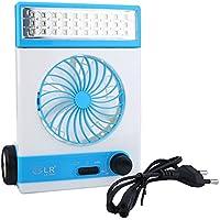 Ventilador Solar Luz Mulitifunctional recargable Panel Solar Ventilador LED Luz Refrigerador