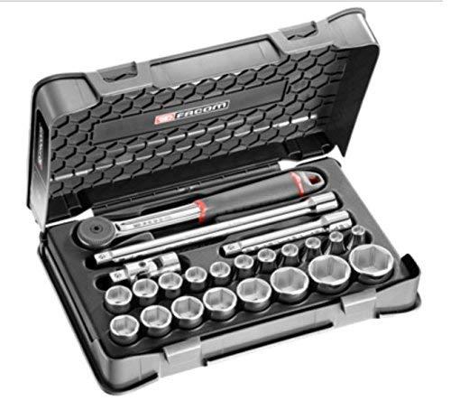\'Facom S.161-3P6Steckschlüsselsatz, 6kant, Silber, 1/2, Set 23-teilig