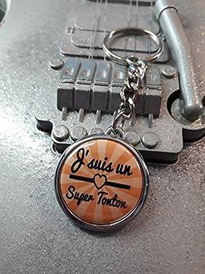 Porte clé J'suis un Super Tonton