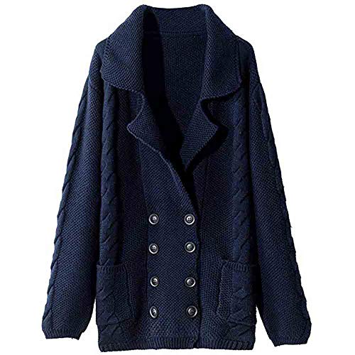 Mitlfuny Bekleidung&Accessoires,Damen-Langarm-Strickwaren Lady Cardigan mit offener Vorderseite Strickjacke -