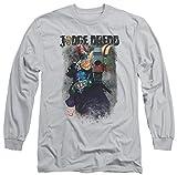 Judge Dredd - T-Shirt - Manches Longues - Opaque - Homme Argent Silver - Argent - XX-Large
