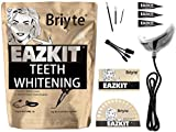 Teeth Whitening Kit - EAZKIT ® by Briyte Full Teeth WHITENING ALYUME 16 Light Professional Tooth Whitener Dental Care Kit Direct Gel Toothbrush x3 Bleaching Smart Phone iPhone Android USB Briyte