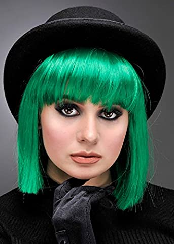 Womens Deluxe 80er Jahre grüne Punk Perücke