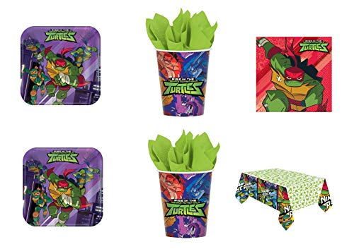 CDC – Kit N ° 17 Party und Party Turtles ninja- (32 Teller, 32 Becher, 40 Servietten, 1 Tischdecke)