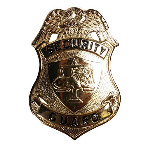 Polizei Faschingkostüm Zubehör - Jannes 2825 Anstecknadel Security Guard Polizeimarke Polizei Police FBI CIA SEK Polizist Zubehör Polizeikostüm Polizeiuniform Einsatzkommando Einheitsgröße Gold