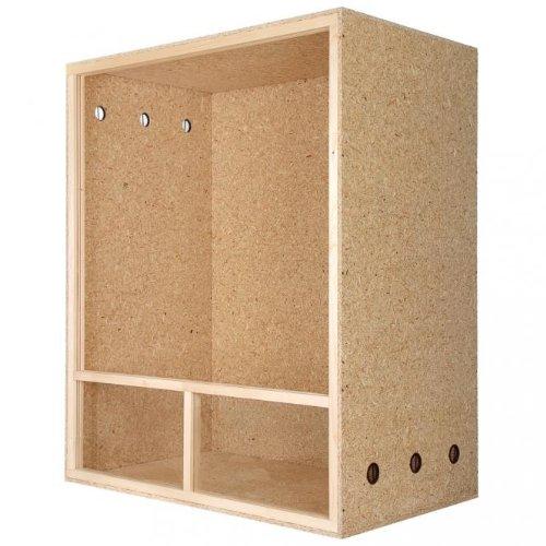 Repiterra® Hoch-Terrarium aus Holz 100cmx120cmx60cm mit Seitenbelüftung aus OSB Platten mit Floatglas